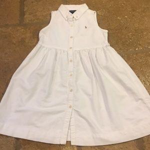 Polo Ralph Lauren Dress Button Down White